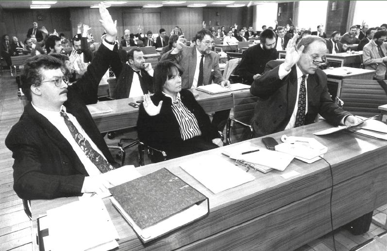 Gruppenbild der ersten SPD Landtagsfraktion